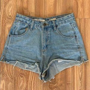 Wrangler hourglass jean shorts